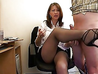 Handjob Mature MILF Office