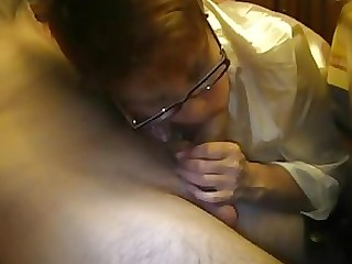 Amateur Blowjob Couple Glasses HD Mature MILF