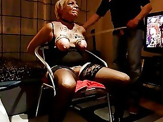 Amateur BDSM MILF Punished Spanking Whore