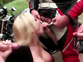 Blonde Blowjob Bus Busty Group Sex Handjob MILF Outdoor