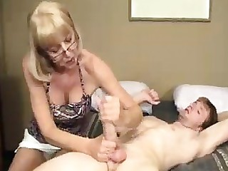 Blonde Big Cock Cum Granny Handjob Huge Cock Mature Sperm