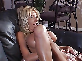 Blonde Boobs Couch Dildo Lesbian Mature Threesome Toys