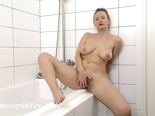 Bathroom Big Tits Boobs Brunette Hairy Juicy Lingerie Masturbation