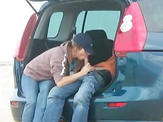 Amateur Blowjob Car Girlfriend Homemade Mature Mouthful Outdoor