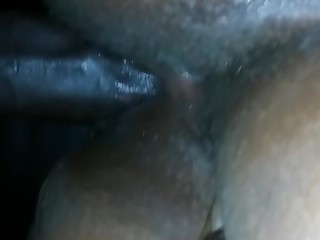 Creampie Cumshot Ebony BBW Inside Mature