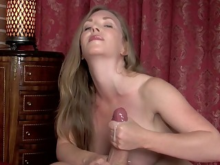 Brunette Cumshot Handjob Hot Juicy MILF Nasty Orgasm