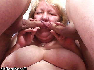 Blowjob Double Penetration BBW Friends Fuck Granny Mammy Mature