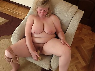 Amateur Big Tits Boobs Dildo BBW Fatty Hairy Homemade